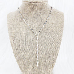 Silver Double Dagger Necklace