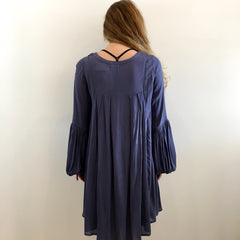 Boho Blue Gauze Dress by Karlie at Charm Boutique
