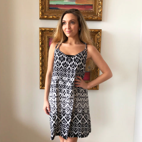 Strap Racer Back Print Dress