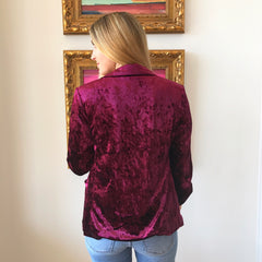 Purple Rain Velvet Blazer by Skies are Blue at Charm Boutique