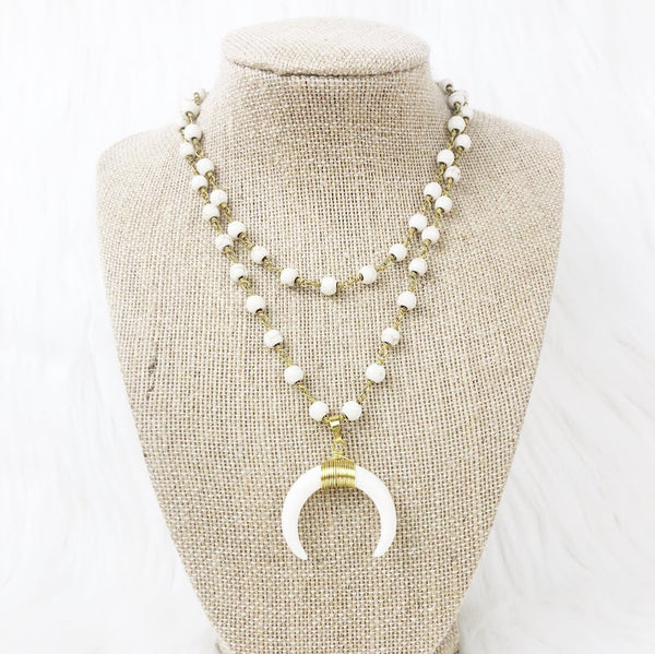 Classic Double Horn Necklace