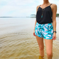 Peggy Evergreen Shorts at Charm Boutique