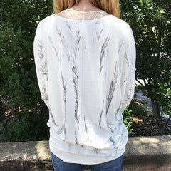 Ivory Long Sleeve Top by Karlie at Charm Boutique Gulf Shores