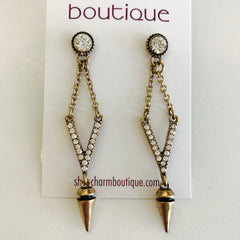 Flying V Rock Star Earring at Charm Boutique Gulf Shores