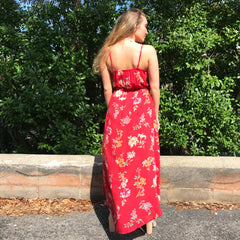 Garden Party Maxi Romper by Angie at Charm Boutique in Gulf Shores
