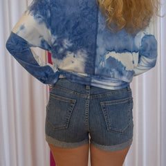 Distressed Short with Cuff