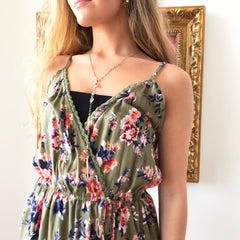 Easy Olive Romper by Angie at Charm Boutique in Gulf Shores Alabama