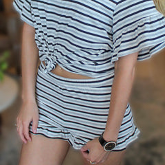 Comfy Queen Stripe Lounge Short