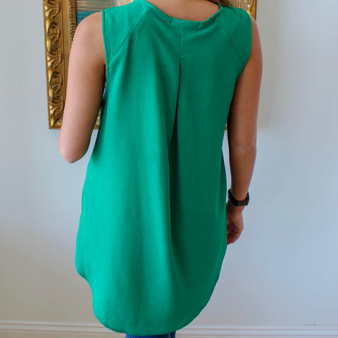 Green with Envy Sleeveless Top