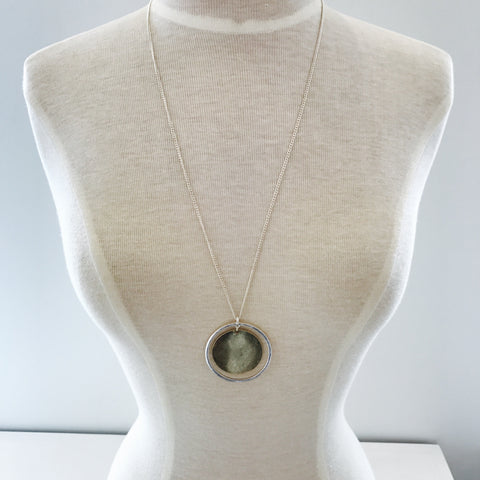 Circle and Disc Necklace