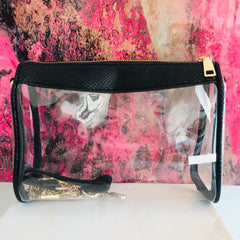 Animal Print Clear Bag