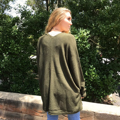 Olive Dolmen Sleeve Cardigan at Charm Boutique