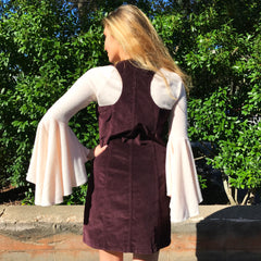 Burgundy Corduroy Dress by Sadie & Sage at Charm Boutique