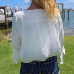 Caribbean Dreams White Blouse by By Together at Charm Boutique in Gulf Shores, Alabama