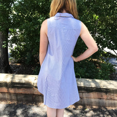Sleeveless Button Down Dress at Charm Boutique