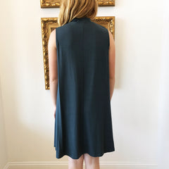 Teal Key Hole Swing Dress at Charm Boutique