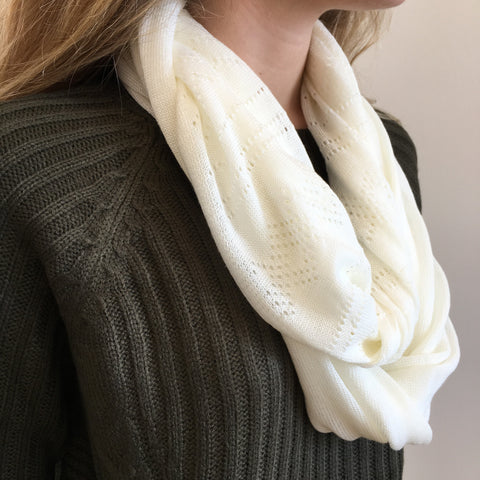 Lightweight Knit Infinity Scarf