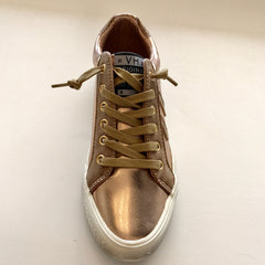 Babe Rose Gold Sneaker by Vintage Havana at Charm Boutique