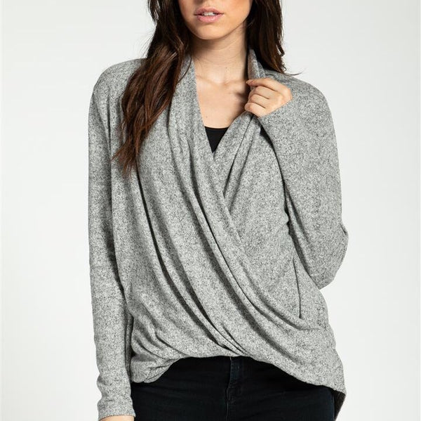 New York Vibes Grey Sweater