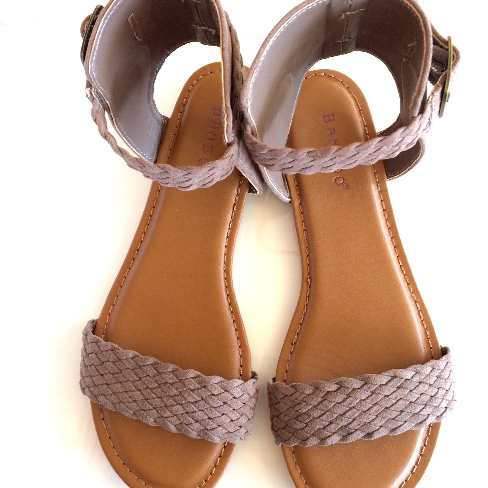 Inspire Braided Taupe Sandal at Charm Boutique