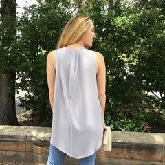 Shirttail Sleeveless Blouse by Wishlist at Charm Boutique