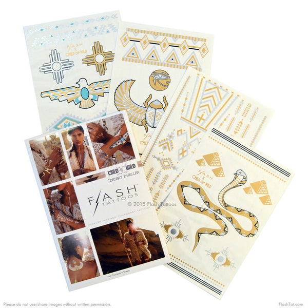 Desert Dweller Flash Tattoos at Charm Boutique