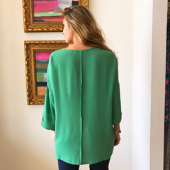 Tie Waist 3/4 Sleeve Blouse by Caramela at Charm Boutique Gulf Shores
