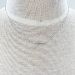 Paved Side Cross Necklace at Charm Boutique