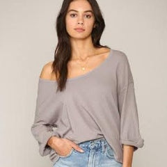 Charcoal Half Sleeve Top