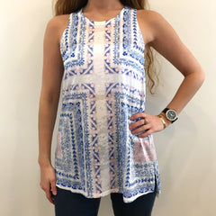 Burn-out Scarf Print Tank at Charm Boutique