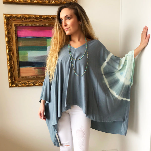 Cabana Tie Dye Tunic by Karlie at Charm Boutique in Gulf Shores