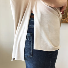 Cold Shoulder High Low Top at Charm Boutique