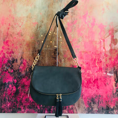 Tassel Saddle Crossbody