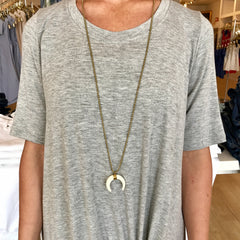 Crescent Necklace by Jen Boaz at Charm Boutique