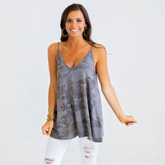 Camo Tank from Karlie at Charm Boutique in Gulf Shores, Alabama