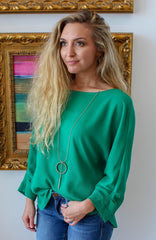 Emerald City Blouse by Caramela at Charm Boutique in Gulf Shores