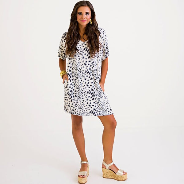 Leopard Print T-Shirt Dress from Karlie at Charm Boutique in Gulf Shores