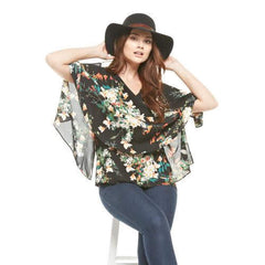 Flowy Floral Cold Shoulder Blouse