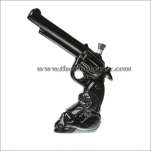 CR-1109 (10 inch Ceramic Skull Gun Pipe- Black)