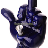 CR-1205 ( 8 inch Blue Middle finger Ceramic pipe)