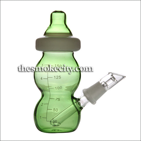 Concentrate Pipe - 1093 (6 inch green feeding bottle Dab pipe)