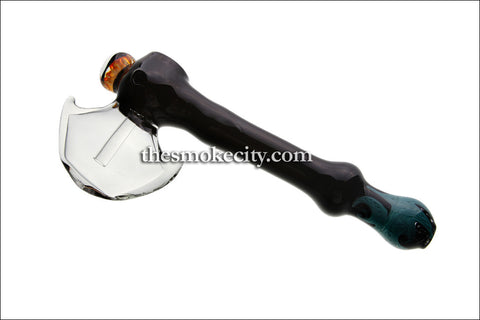 HM-1103 (9 inch Black and transparent Hammer Bubbler Pipe)