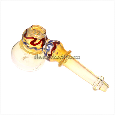 HM-1202 (6 inch Yellow Glass Hammer Bubbler Pipe)