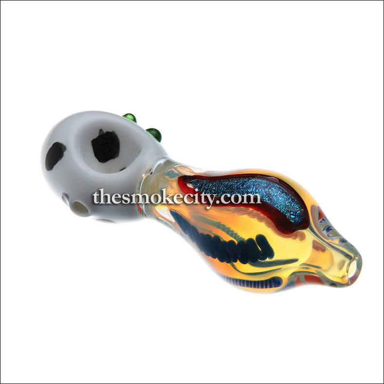 HP-1101 (5 Inch Glass Hand Pipe with Dichro)
