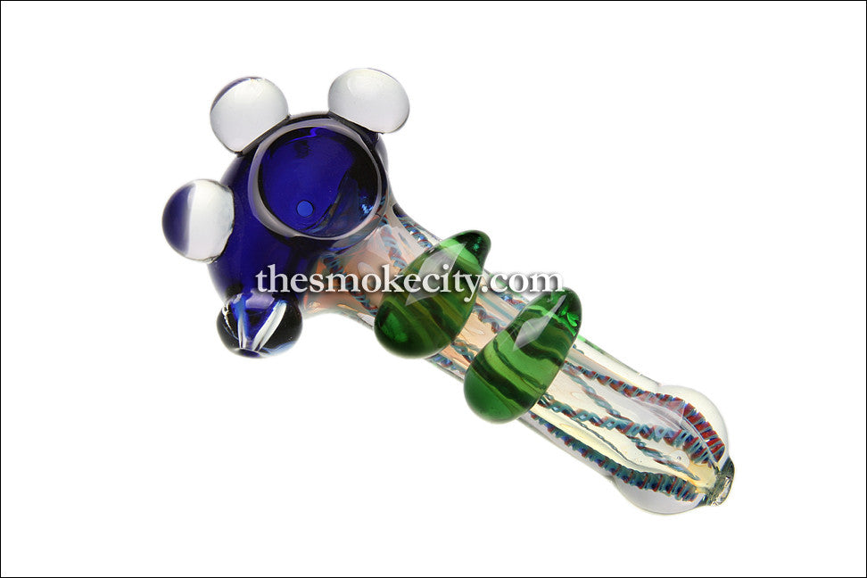 "Hand Pipe -1036 (5"" Heavy Hand Pipe with glass beads)"