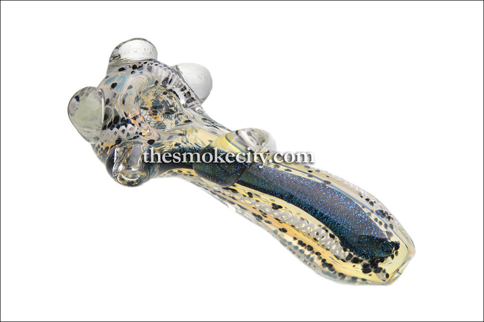 Hand Pipe -1095 (5 inch glass hand pipe with dichro)