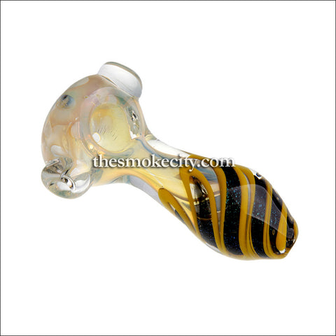 HP-1097 (4 inch translucent glass pipe with Yellow and dichro)