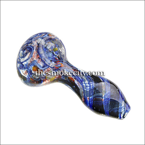 HP-1099 (4 inch Blue glass pipe with dichro)