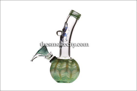"MWP-1110 (7"" Transparent and green Mini Water Pipe)"
