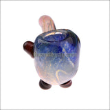 SH- 1201 (6 inch Blue Dichro Sherlock glass pipe)